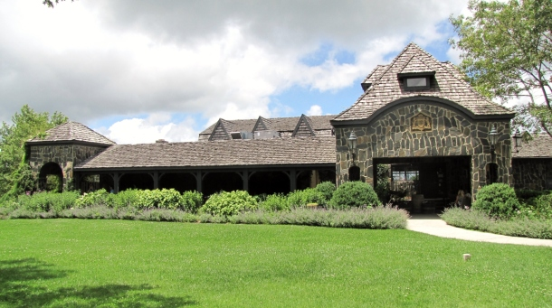 Front View of the Restaurant at Chateau Morrisette Winery in Virginia
