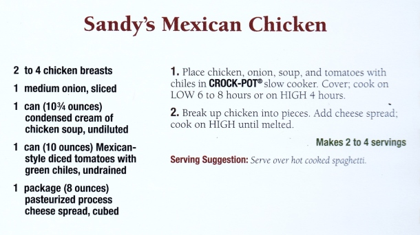 sandy's mexican chicken