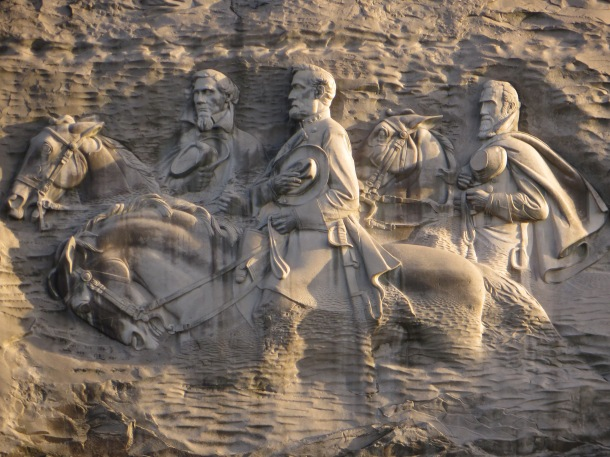 Close up of the carving