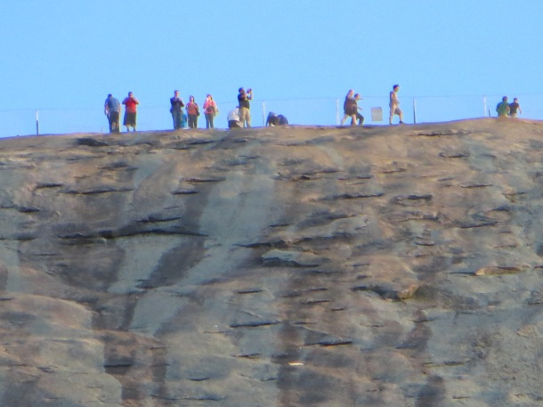 People at top of Stone Mountain