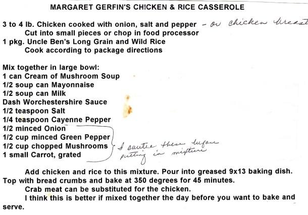 margaret gerkins chicken casserole
