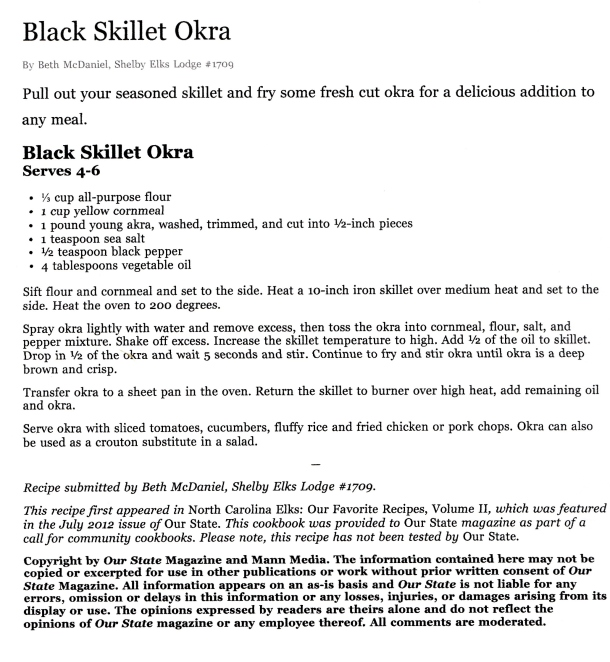 black skillet okra