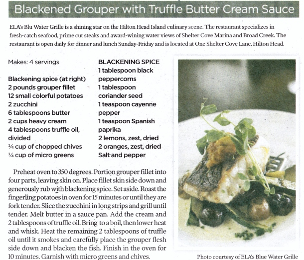 blackened grouper truffle butter