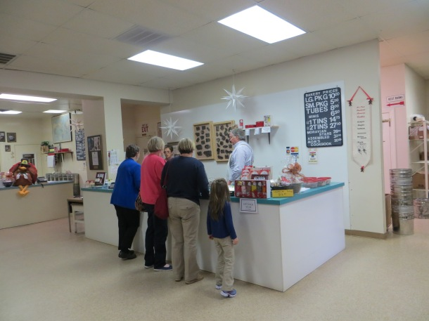 Sales Counter at Mrs. Hanes Cookies