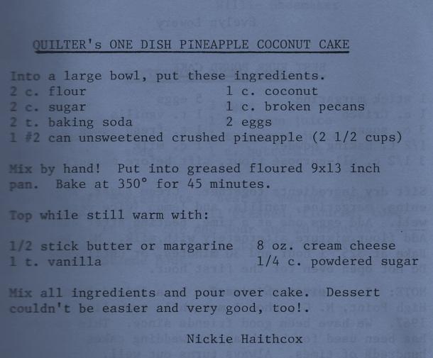 easy coconut cake  oakdale