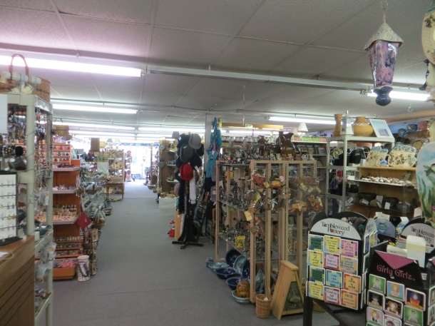 Inside View of The VIllage Pottery gift shop in downtown Seagrove NC