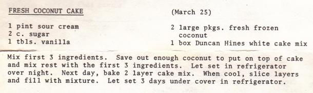easy coconut cake