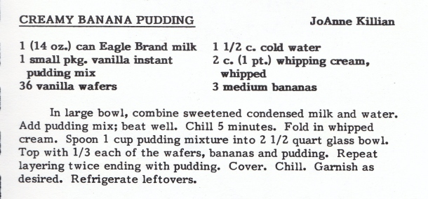 eagle brand banna pudding