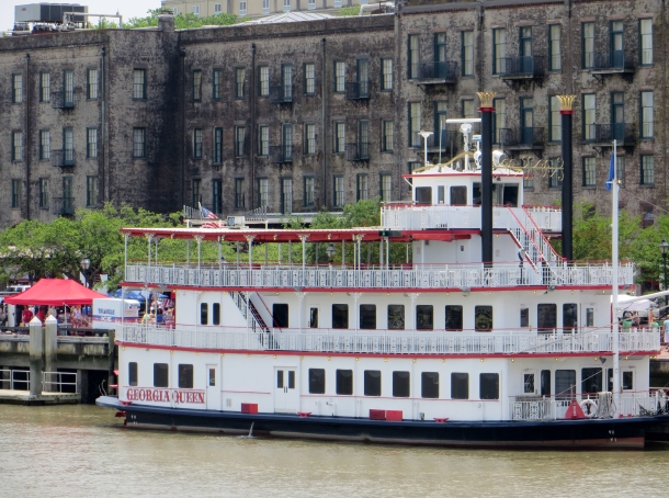 One of the two riverboats docked on River Street - I was on the other one!