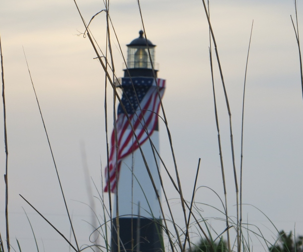 Tybee Island Lighthouse Decorated For Memorial Day