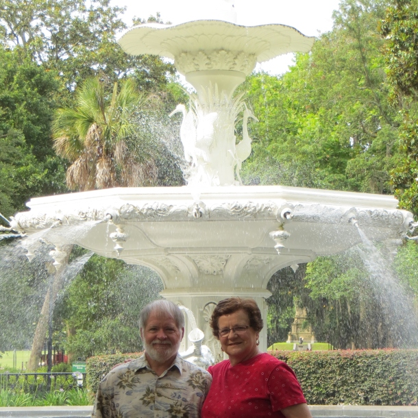 Me and Mr. D at Fountain in Forsyth Park