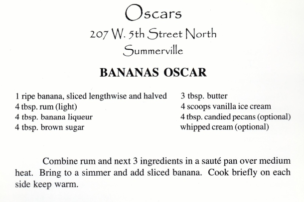 oscar's banana foster
