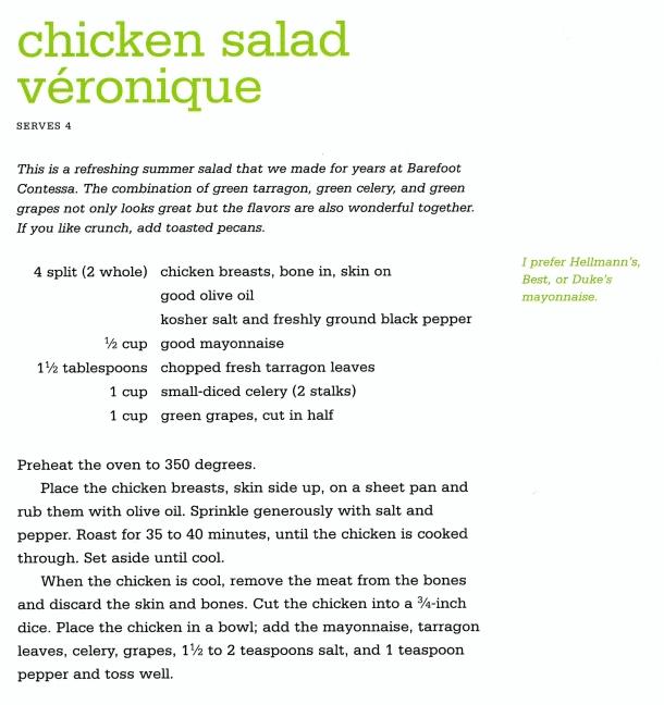 Ina Garten's Chicken Salad