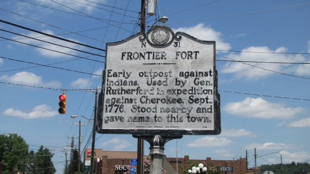 Historical Sign - Downtown Old Fort