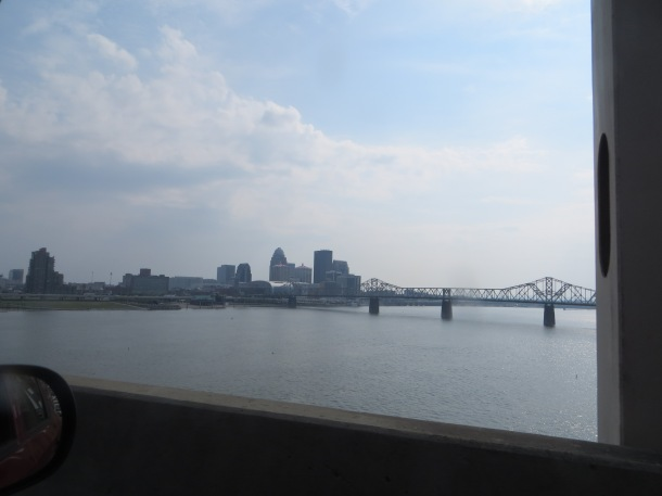 Crossing Ohio River From Indiana to Louisville, KY