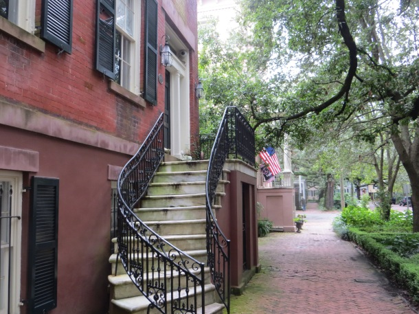We visited Savannah and I took a picture of the entrance to an old home.