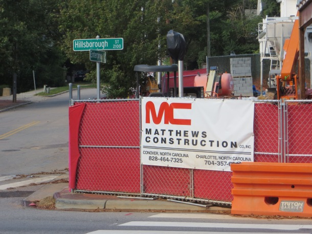 Local Construction Company Sign