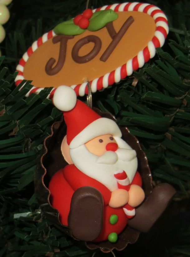 Santa in a Chocolate Shell on the tree!