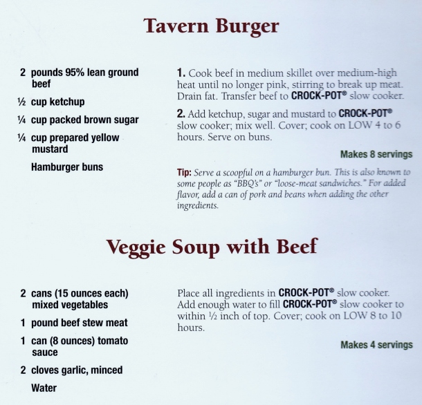 slow cooker tavern burgers and soup