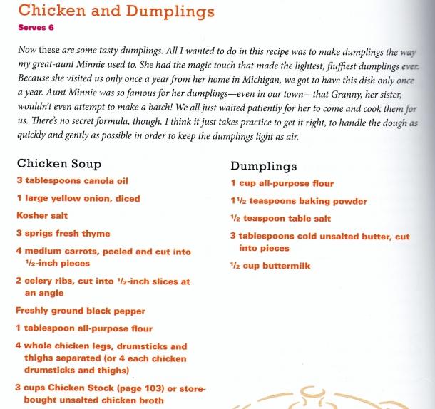 carla's chicken and dumplings