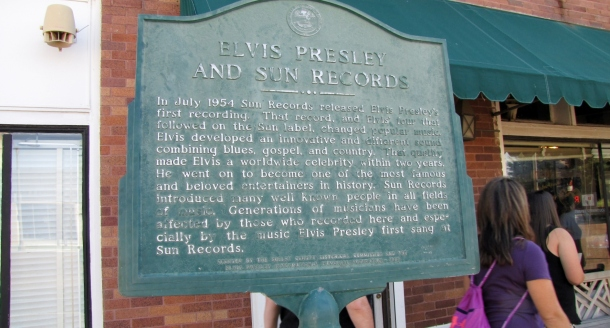 Plaque at Sun Record Studio