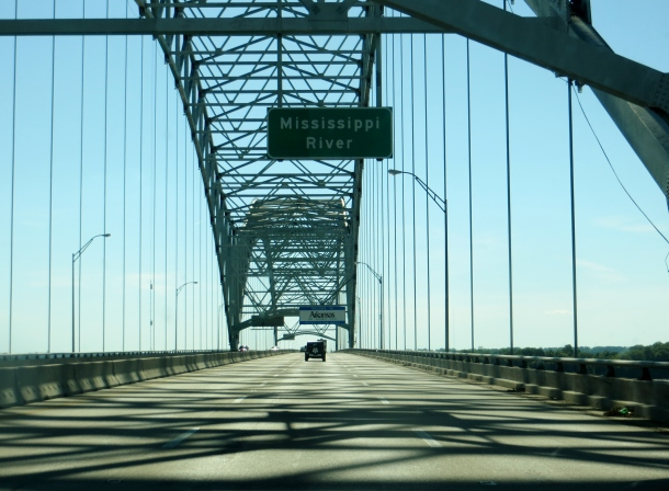 Crossing the Mississippi River from Memphis