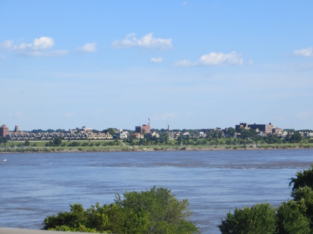 View of Memphis Skyline as you cross the Mississippi from Arkansas to Memphis