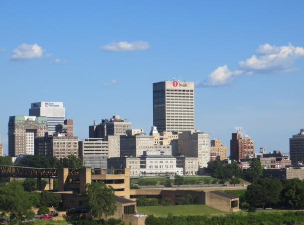Memphis Skyline viewed from Mississippi River