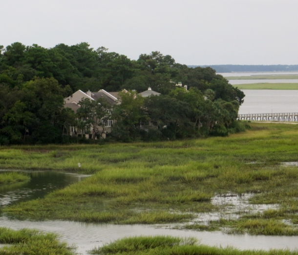 The low country marshes as you cross the bridge to Hilton Head Island