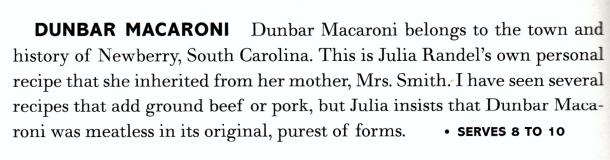 dunbar macaroni